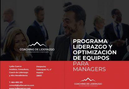 Programa de Liderazgo y Optimización de Equipos para Managers y mandos intermedios 2020