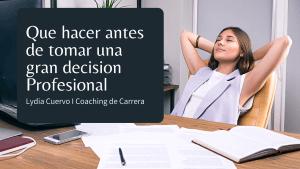 Coaching de Carrera_consigue metas profesionales con Lydia Cuervo